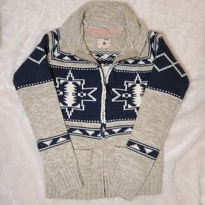 Triple Five Soul knitted zip up sweater